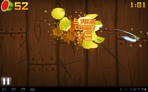 Samsung Galaxy Tab 10.1 Fruit Ninja