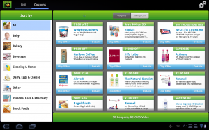 Samsung Galaxy Tab 10.1 GroceryIQ