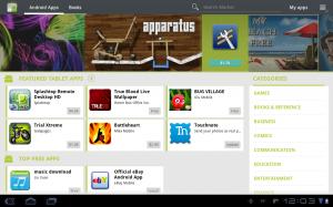 Samsung Galaxy Tab 10.1 Market