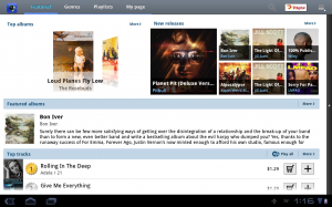 Samsung Galaxy Tab 10.1 Music Hub
