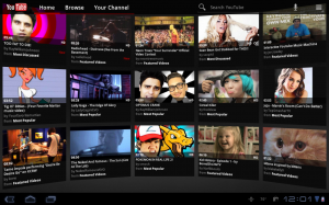 Samsung Galaxy Tab 10.1 YouTube