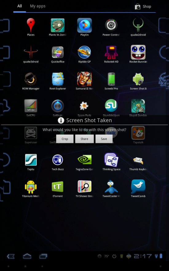 Screenshot It – The Best Screenshot Application for the Motorola Xoom & Rooted Android Devices!