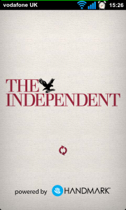 The Independent - Splash page.