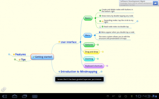 Mindjet Maps for Android (Formerly Thinking Space), Create Visual Thought Maps to Help with Organization
