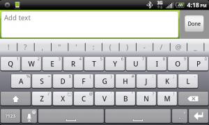 Thumb Keyboard Landscape Mode Thunderbolt