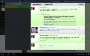Tweetcaster HD Lists