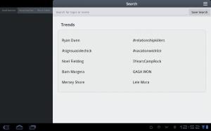 Tweetcaster HD Trending