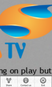 Watch Live TV - Zenga TV - Menu Options