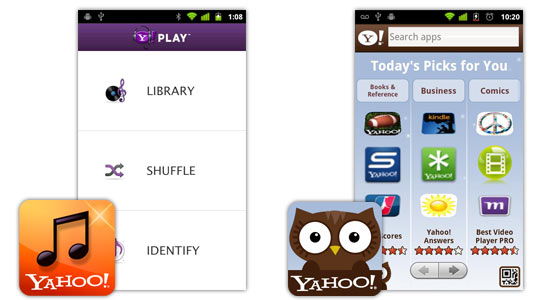 Yahoo Launches New Android Apps: Sweet Music Player & AppSpot to Help Find Apps