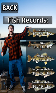 iFishing - Individual fishing records