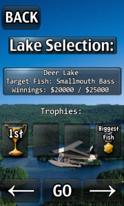 iFishing - Lake selection