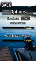 iFishing - Options menu