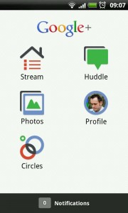 GooglePlus - Main Menu