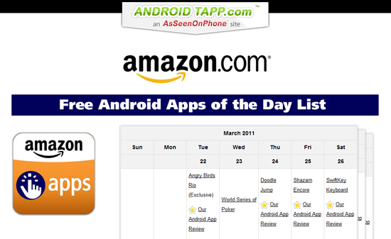Amazon Free Android Apps of the Day List