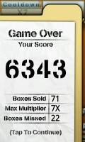 Box Buster - Game over, better score!