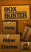 Box Buster - Main menu