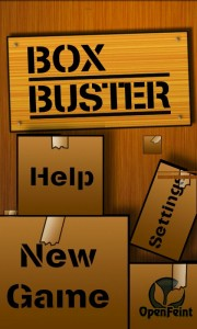 Box Buster - Main menu