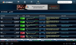 CNBC Real-Time for Android My Stocks