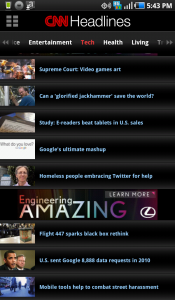 CNN for Android Headlines 2