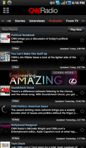 CNN for Android Radio Podcasts