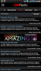 CNN for Android Radio Top Stories