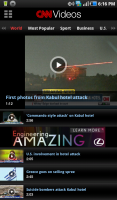 CNN for Android Videos
