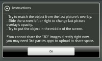 Camera3D - Instructions view