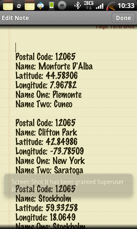 Classic Notes Postal Code Lookup Androidtapp