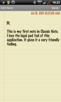 Classic Notes Sample Note