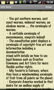 Classic Notes Word Usage Cornucopia