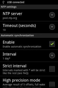 ClockSync Settings