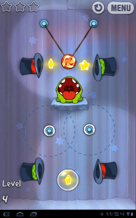 Cut the Rope. Popular & Highly Addictive Puzzle Game Storms Android!
