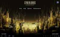 Cyberlords Arcology Title Screen
