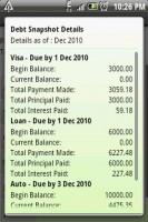 Debt Payoff Planner Debt Snapshot