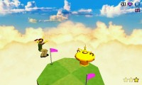 Diversion - Reach the yellow saucer to finish the level.