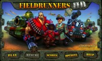 Fieldrunners - Main menu