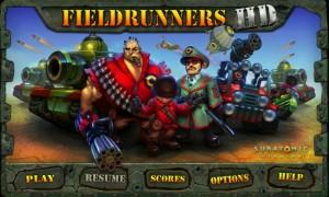 Fieldrunners - Main menu