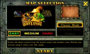 Fieldrunners - Map selection 2