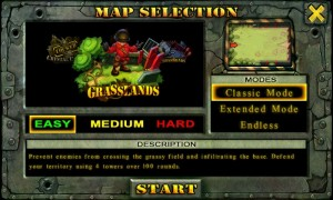 Fieldrunners - Map selection