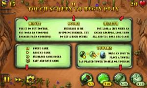 Fieldrunners - Pre-level info