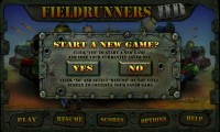 Fieldrunners - Start new game
