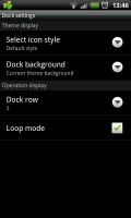 GO Launcher EX - Dock settings