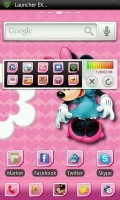GO Launcher EX - Minnie Mouse theme. Not a personal favourite.....
