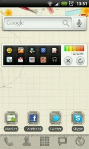 GO Launcher EX - Sketch theme.