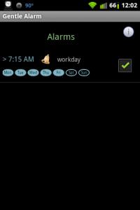 Gentle Alarm List