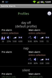 Gentle Alarm Profiles