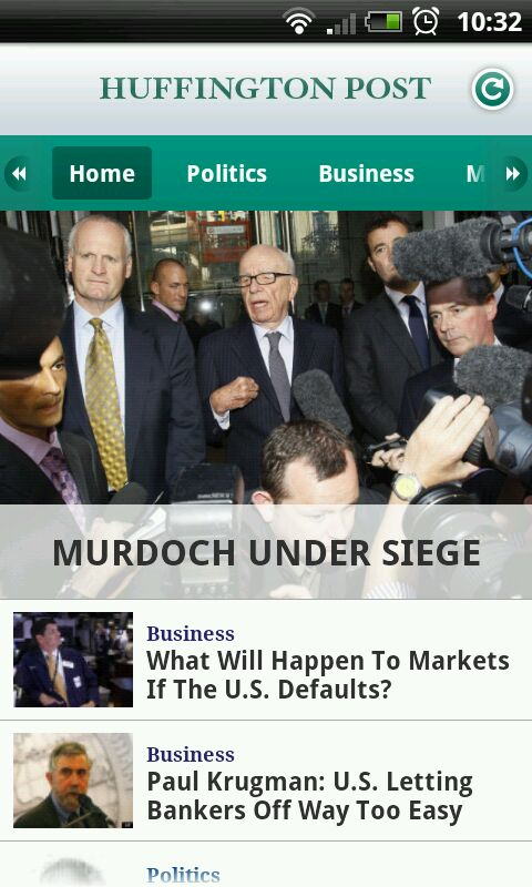 HuffingtonPost.com Official News Android App, Our Official Review