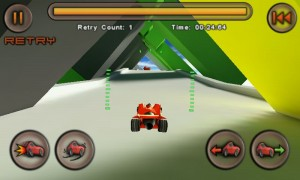 Jet Car Stunts Lite - Bottom left is air brake and Afterburner