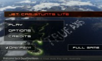 Jet Car Stunts Lite - Main menu