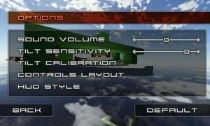 Jet Car Stunts Lite - Options